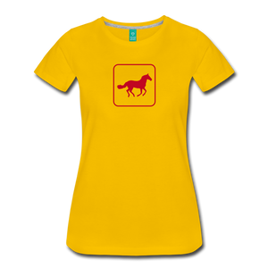 Women's Horse Icon T-Shirt - sun yellow