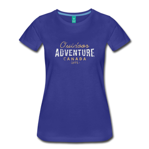 Women's Outdoor Adventure Canada T-Shirt - royal blue