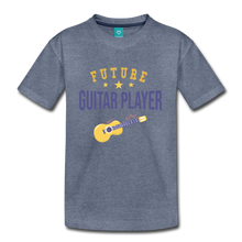 Load image into Gallery viewer, Kids' Guitar Player T-Shirt - heather blue
