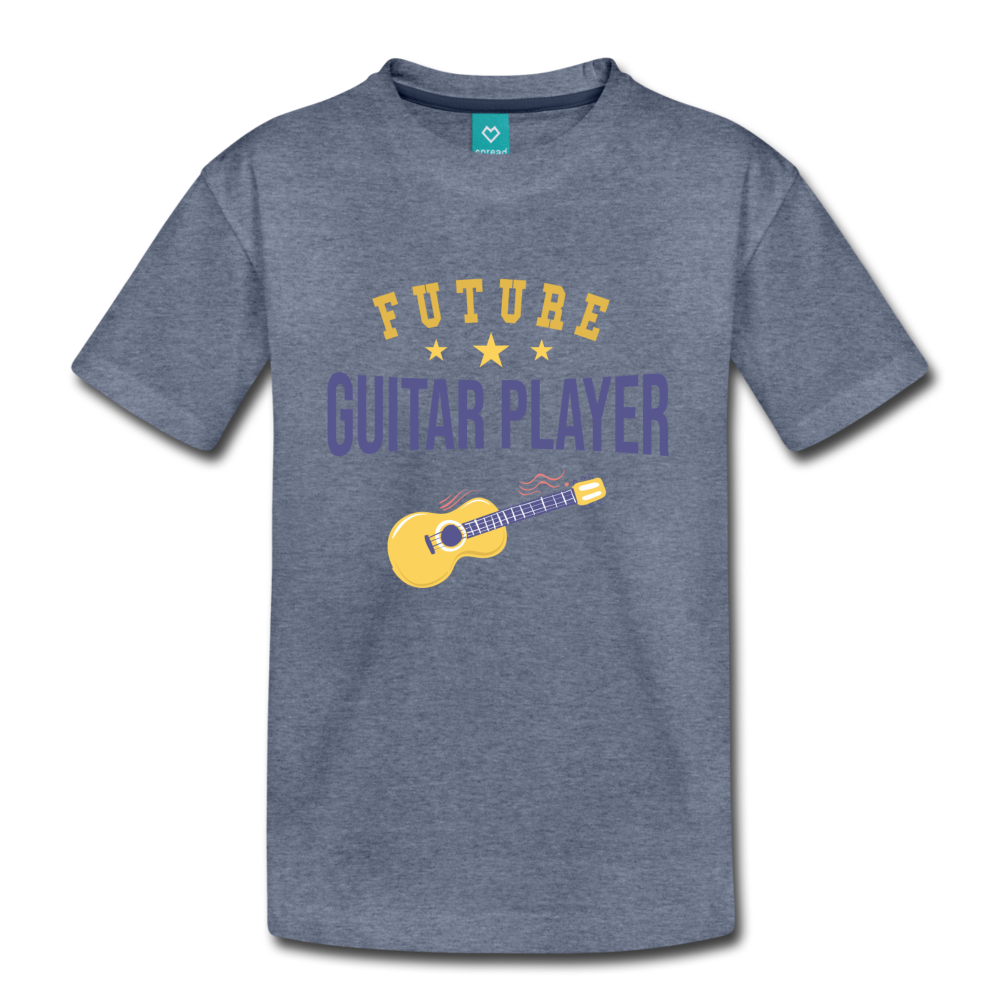 Kids' Guitar Player T-Shirt - heather blue