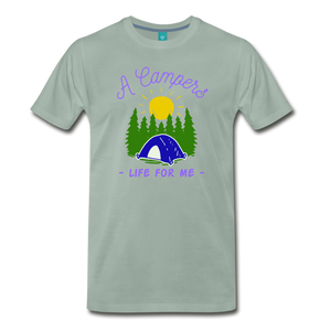 Men's Campers Life T-Shirt - steel green