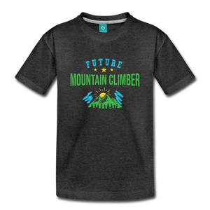 Toddler Future Mountain Climber T-Shirt - charcoal gray