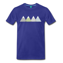 Load image into Gallery viewer, Men's Faded Mountains T-Shirt - royal blue