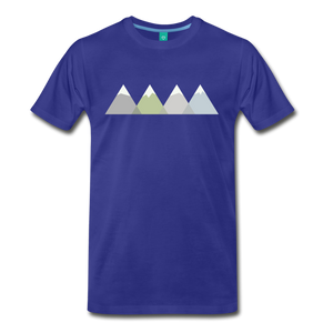 Men's Faded Mountains T-Shirt - royal blue