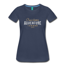 Load image into Gallery viewer, Women's Outdoor Adventure Canada T-Shirt - navy