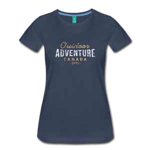 Women's Outdoor Adventure Canada T-Shirt - navy
