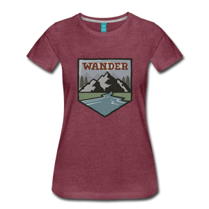 Women's Wander T-Shirt - heather burgundy