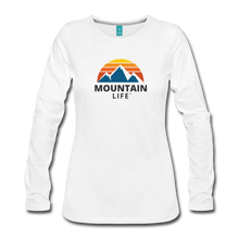 Load image into Gallery viewer, Women's Mountain Life Long Sleeve - white