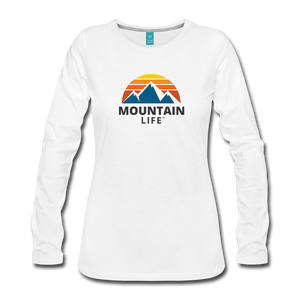 Women's Mountain Life Long Sleeve - white