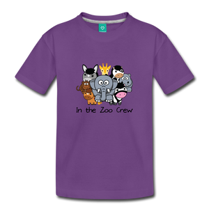 Toddler In the Zoo Crew T-Shirt - purple
