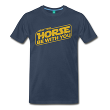 Load image into Gallery viewer, Men's May The Horse be with You T-Shirt - navy