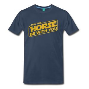 Men's May The Horse be with You T-Shirt - navy