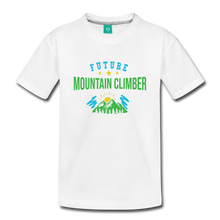 Load image into Gallery viewer, Toddler Future Mountain Climber T-Shirt - white