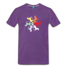 Load image into Gallery viewer, Men's Rainbow Horse Circle T-Shirt - purple