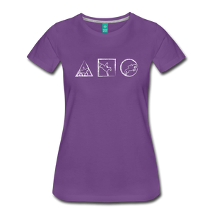 Women's Horse Symbols T-Shirt - purple