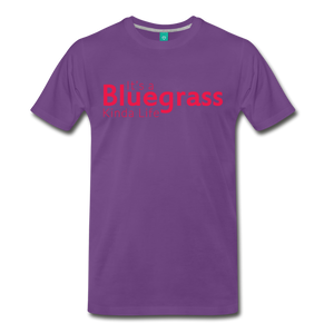 Men's Bluegrass Kinda Life T-Shirt - purple