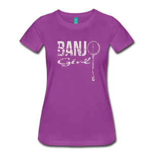 Women's Banjo Girl T-Shirt - light purple