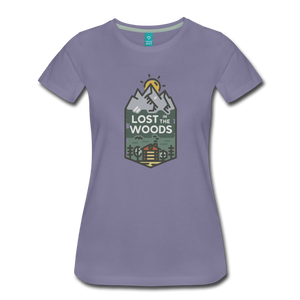 Women's Lost T-Shirt - washed violet