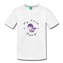 Load image into Gallery viewer, Toddler My First Pony T-Shirt (lilac patch) - white