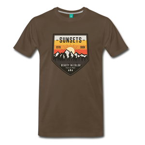 Men's Sunset T-Shirt - noble brown