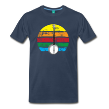 Load image into Gallery viewer, Men's Banjo Rainbow T-Shirt - navy