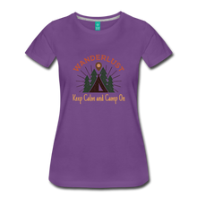 Load image into Gallery viewer, Women's Keep Calm, Camp On - purple