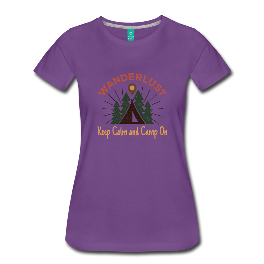 Women's Keep Calm, Camp On - purple