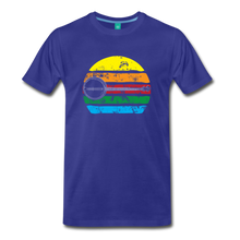 Load image into Gallery viewer, Men's Faded Banjo Rainbow T-Shirt - royal blue