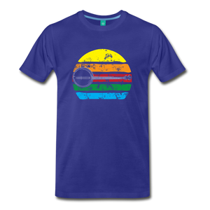 Men's Faded Banjo Rainbow T-Shirt - royal blue