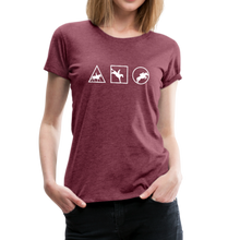 Load image into Gallery viewer, Women's Horse Symbols (solid) T-Shirt - heather burgundy
