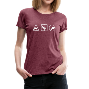 Women's Horse Symbols (solid) T-Shirt - heather burgundy