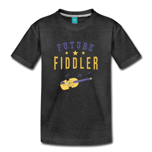 Toddler Future Fiddler T-Shirt - charcoal gray