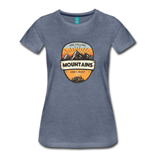 Load image into Gallery viewer, Women's Mountain's Calling T-Shirt - heather blue