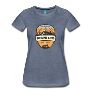 Women's Mountain's Calling T-Shirt - heather blue