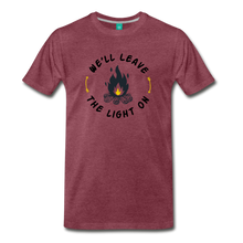 Load image into Gallery viewer, Men's We'll Leave the Light On T-Shirt - heather burgundy