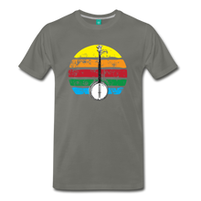 Load image into Gallery viewer, Men's Banjo Rainbow T-Shirt - asphalt