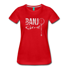 Load image into Gallery viewer, Women's Banjo Girl T-Shirt - red