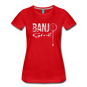 Women's Banjo Girl T-Shirt - red