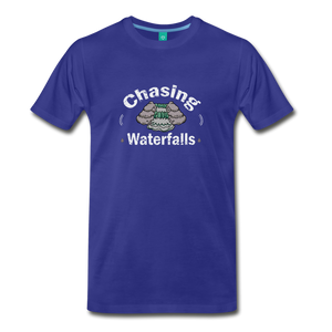 Men's Chasing Waterfalls T-Shirt - royal blue