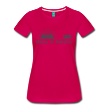 Load image into Gallery viewer, Women's RV Keep It Simple T-Shirt - dark pink