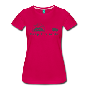Women's RV Keep It Simple T-Shirt - dark pink