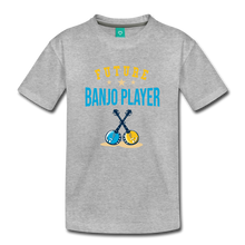 Load image into Gallery viewer, Toddler Future Banjo Player T-Shirt - heather gray