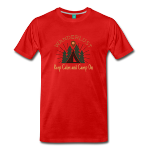 Men's Keep Calm, Camp On - red