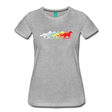 Load image into Gallery viewer, Women's Retro Rainbow Horse T-Shirt - heather gray