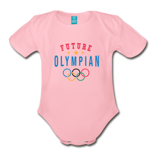 Load image into Gallery viewer, Future Olympian Baby Bodysuit - light pink