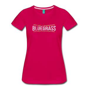 Women's Bluegrass T-Shirt - dark pink