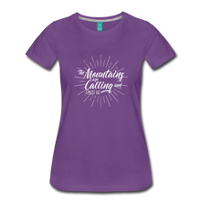 Load image into Gallery viewer, Women's Mountain Calling T-Shirt (white) - purple