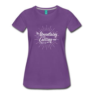 Women's Mountain Calling T-Shirt (white) - purple