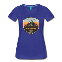Load image into Gallery viewer, Women's Hiking T-Shirt - royal blue