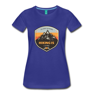 Women's Hiking T-Shirt - royal blue